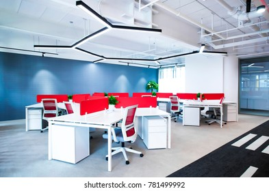 Office building interior scene map