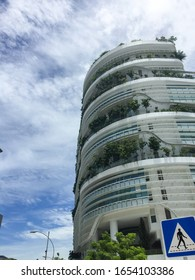 Office building near One North Singapore. The building name fusionopolis, eco-friendly building.