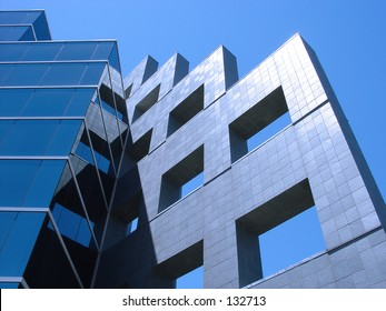 Office building on a clear day.