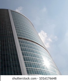 office building on sky background