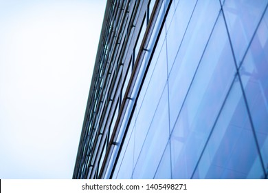 Office building with sky background