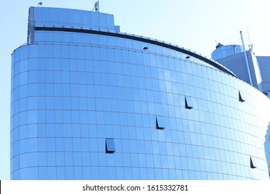 Office building with tinted windows. Modern architectural design
