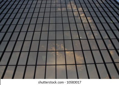 Office building windows in Pittsburgh, PA.  Good for abstract background.