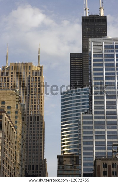 Office buildings in Chicago, IL.