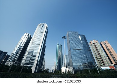 the office buildings at city