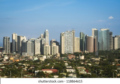 office buildings and condominiums in fort bonifacio the business and financial centre of manila city in the philippines