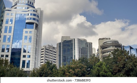 Office Buildings From Maslak District, Istanbul, Turkey