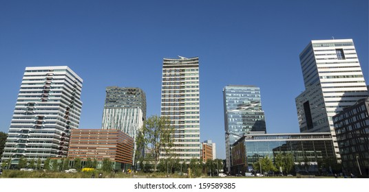 Office buildings. Skyline of the south of Amsterdam, the Netherlands.