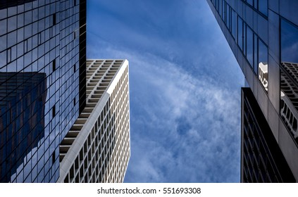 Office buildings stretch up to the sky in Hong Kong