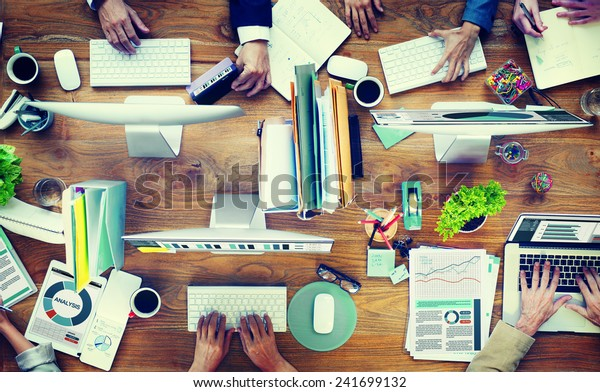 Office Business Adminstratation Start Up Conference Meeting Concept