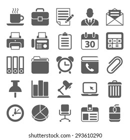 Office and Business black Icons