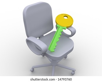 office chair. 3d