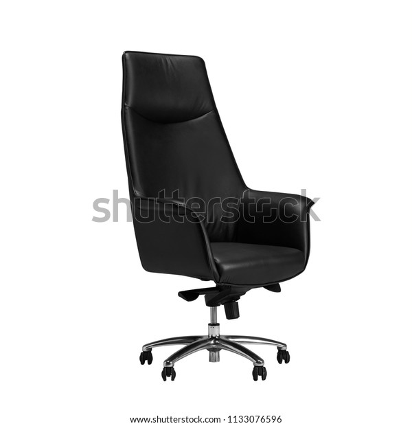 Phenomenal Office Chair Desk Chair Black Leather Stock Photo Edit Now Ibusinesslaw Wood Chair Design Ideas Ibusinesslaworg