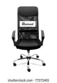 An office chair isolated against a white background