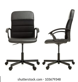 office chair on the white background front and side view