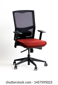office chair with wheel over white background with shadow