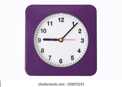 Office clock on white