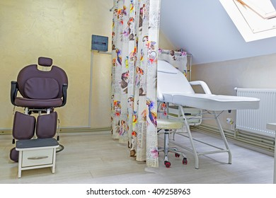 office for cosmetic procedures, couch, chair