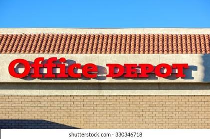 Office Depot Store Sign   February 2, 2015, Las Vegas, NV   Editorial