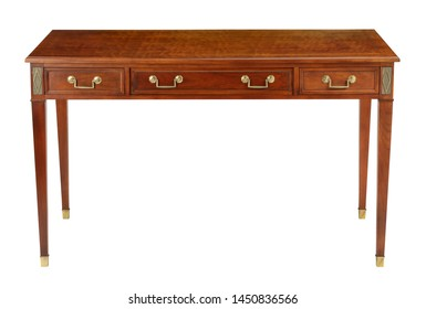 Office desk with clipping path.
