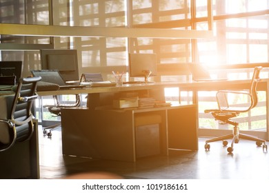 Office desk, image of modern office interior background. An idea of modern workspace and coworking space, modern lifestyle,Gig Economy