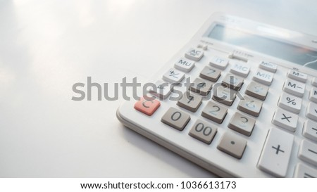 office desk table calculator close on stock photo edit now
