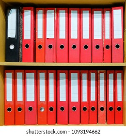 Office documents file in cabinet.