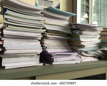 Office documents stack background