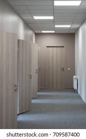 Office doors. Empty interior.