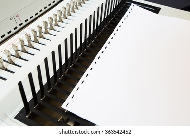 Office equipment bookbinding. Equipment for paper and books.