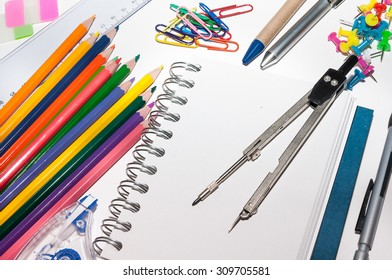 Office equipment with an open book