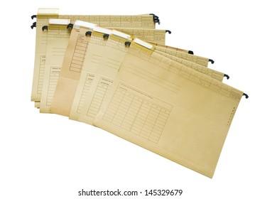 office file folders, index folder, isolated on white background