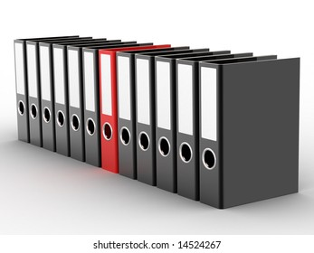 Office files on white background