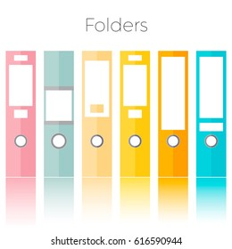 Office folders isolated on the white background.illustration on your business.