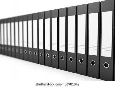 office folders on a white background