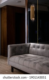 Office furniture with dramatic lighting
