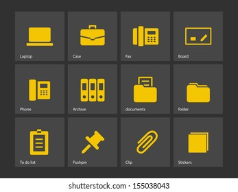 Office icons. See also vector version.