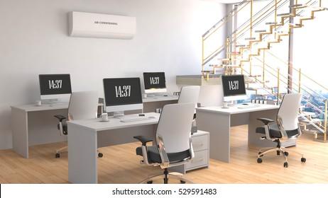 Office interior. 3D Illustration.