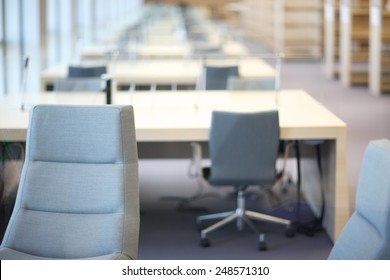 Office interior design, contemporary furniture