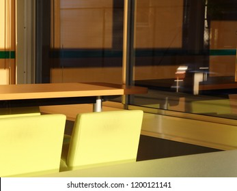 Office Interior in the Late Afternoon Sun