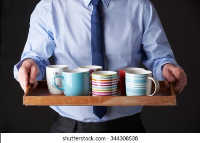 Office Junior Carrying Tray Of Cups
