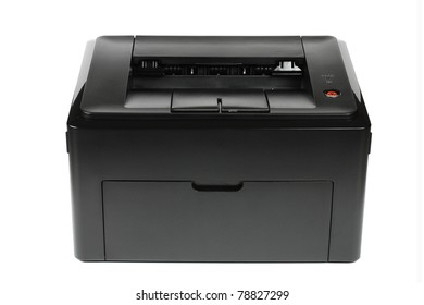 Office laser printer isolated on white background