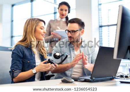 Office Manager Explaining New Employee What Stock Photo (Edit Now