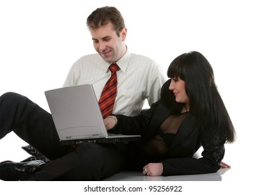 office managers  with a big smile