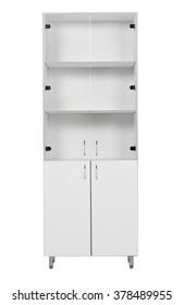 Office medical cabinet on a white background