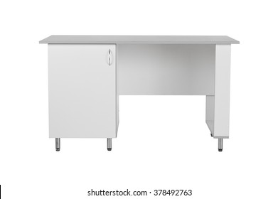 Office medicall table isolated under the white background