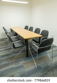 Office meeting room and conference table.