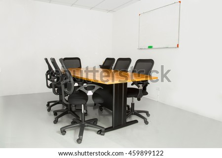 Office Meeting Table Chairs White Room Stock Photo Edit Now