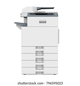 Office Multifunction Printer Isolated. 3D  rendering