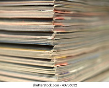 Office paper documents useful as a background - with selective focus